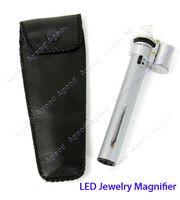 Wholesale New X Jewelry Gem Handheld Pocket LED Light Microscope Lpoue Magnifier Pen Zoom