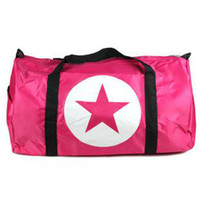 Wholesale Hot Freeshipping high quality Restro women s big Nylon Travel Bags black red pink five pointed star luggage bag Promotion
