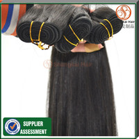 Straight Brazilian Hair machine 8- 30 Inches Hair Extensions Brazilian Remy Human Virgin Straight Hair Natural Black Color Can Be Dyed 100g bundle 4pcs Mix Free Shipping