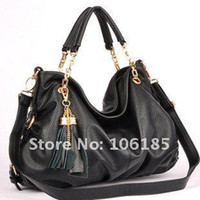 Totes Women Plain Wholesale - New arrive Hot sale high quality women's OL fashion designer leather handbag,Genuine Cow leather Tassel Chain bag Promotion86179