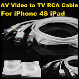 2017 vga female cables AV Video to TV  RCA Cable USB Charger For iPad iPod Touch iPhone 4S 3GS