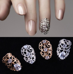 Wholesale 5pcs optional D Shiny Nail Alloy Rhinestone Metal nail Art Tip zircon Design Glitters Decoration