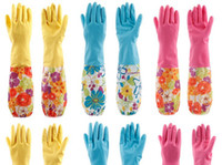 Wholesale Latex Gloves Cleaning Gloves Rubber Plus Fleece Gloves Household Gloves Thick Warm Gloves pairs Gztingmay