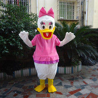 Mascot Costumes Unisex Free Size Wholesale - Adult Fancy Dressing Cartoon Daisy Duck Design Plush Mascot Costume Holiday Celebration Outfit taolaoyanv