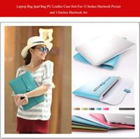 Wholesale 13 quot PU leather case for tablet pc computers laptop ipad Accessories quot quot Bag