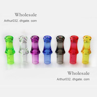 Wholesale Ce4 Crystal Atomizer - Good Quality Clear Crystal 510 Mouth Drip Tip Mouthpiece Electronic Cigarette Accessories for Ego Serise CE4 CE4S CE5 CE6 Atomizer 100PCS