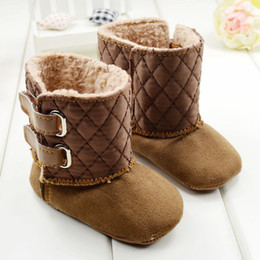 Winter Infant Shoes Dunk High Toddler Baby Boys Girls Snow Boots 0-24M First Walker Shoes 11.5-12.5-13.5 6pair lot QZ170