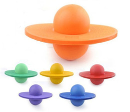 Wholesale 10pcs retro rock hopper pogo balance toy Outdoor Space Ball the bouncing to jump bouncy balls dancing with pump color random delivery