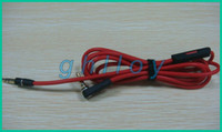 Wholesale 1 M Red Wires for Headphone mm Replacement Cable Audio L Plug Straight Plug Wire Cables with Control Talk and with volume control