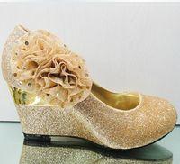 Cheap PU wedding shoes Best Rhinestone High Heel wedges shoes