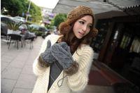 Wholesale Korea Rope Gloves Woven Cotton Winter Thicken Gloves Men Women Mittens