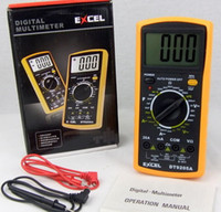 venda por atacado digital ammeter and voltmeter-LCD Multímetro Digital AC DC VOLT Medidor voltímetro Ommetros Amperímetro DT9205A Handheld Tester digital profissional MULTIMETRO Medidor Amperímetro