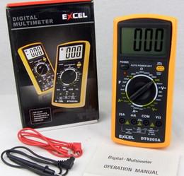 Wholesale LCD Digital Multimeter AC DC VOLT Meter Voltmeter Ohmmeter Ammeter DT9205A Handheld Tester digital professional Multimetro Meter Ammeter