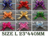 Wholesale Size L mm Pull Bows Ribbons Flowers Gift Wrapping Christmas Wedding Party Decoration Pullbows
