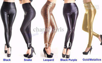 Leggings Skinny,Slim Long 2013 Sexy Lady High Waist pants Stretchy Faux Leather Look Tight Leggings Pants size XS,S,M,L Multicolor