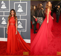 Custom Mde 2014 2013 Rihanna Grammys Red Carpet Celebrity Dr...