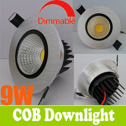 Wholesale Best Price OFF COB W W LED Downlight inch Fixture Recessed Lamps Warm Cool White Cabinet Ceiling Down Lights Hrs