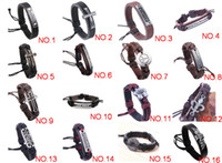 Wholesale Urban Tribal Leather Charm Bracelet Genuine Leather Hand made Bracelets Jewelry Mix Models