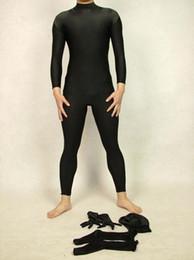Halloween cospaly Black Full Body Unisex Shiny Lycra Spandex Zentai Suit lycra zentai costumes
