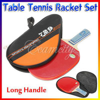 Wholesale Set Table Tennis Racket Ping Pong bat Paddle Long Handle Waterproof Case Bag Pouch for Games sports