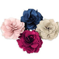 Wholesale Girl s Beloved Fabric Flower Booch Popular Wedding Hair Brooches Fabric Pin Brooch X012