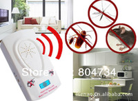 Wholesale free fedex Electronic ultrasonic insect repellent mosquito repellent Electronic Pest Repeller Cockroach control free shippi