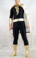 Unisex adam kid - Halloween cospaly DC Comics Marvel Family Black Adam Superhero Costume Lycra zentai costumes