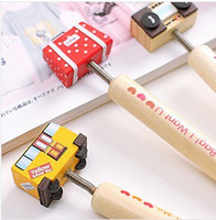 Wholesale Cute wooden ball point pen cartoon pen Korea cute personality LOMO gift prizes different styles