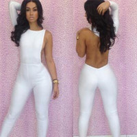 Wholesale New Sexy Jumpsuits Fashion Women Jumpsuits Club Party Sheath Jumpsuits Ladies Skinny Backless Summer one piece Jumpsuits pants YD3