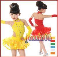children dance costumes - New children s Latin dance clothes girls dress children dance Latin dance costumes children clothing