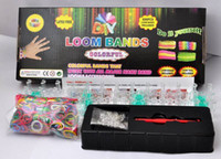 Big Kids Multicolor Plastic Rainbow Loom Bracelet Colorful Rubber Band Silicone LOOM BANDS the Preparation Ring - 600 Bands+ S-Clips Twistz DIY BY free DHL 20pcs