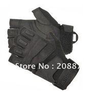 Wholesale 2PCS S O L A G Black Hawk Gloves Tactical Hell Storm Leather Gloves Motobike Gloves Half Finger