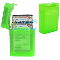 Wholesale New design Green Hard Disk Driver Protective Case External Box Enclosure For quot SATA HDD