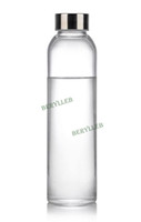 Wholesale High Quality Clear Glass Water Bottle w t Lid and Cover ml fl oz