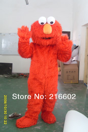 Wholesale High quality Adult elmo mascot costumes for sale Halloween Outfit Fancy Dress Suit elmo adult clothes very good quality
