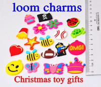 Wholesale Rrainbow Loom Bands Charms Bracelet Braided Rubber Doll Small Pendant Small Animals in stock