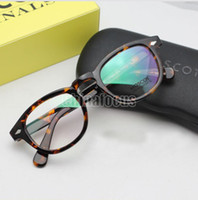 Wholesale Moscot Glasses Frame Johnny Depp Fashion Glasses Size L M S Black and Tortoiseshell Frame Pain Mirror In Box