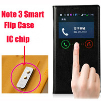 For Samsung Leather For Christmas Best 1:1 Official Genuine IC chip Sleep Wake Flip Leather Back Battery Cover Case For Samsung Galaxy Note 3 note3 DUOS N9000 N7505V