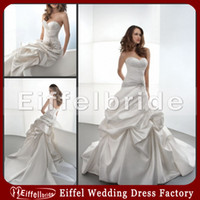 Reference Images beaded motif - A Line Sweetheart Pleated Wedding Dress with Ruching and Beaded Motif