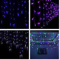 Wholesale Curtains Best Wedding Decoration - Best price 28W 6*2.5M 220V 750leds LED Curtain Light String Christmas Garden Decoration Party Wedding Holiday Flash String Fairy Lamp