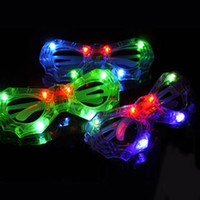 New LED Spiderman Glasses Flashing Glasses Light Party Glow ...