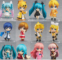 Wholesale Vocaloid HATSUNE MIKU Family Figures Rin Len Ruka Kaito Meiko Anime Figure Toys set New in Retail Box