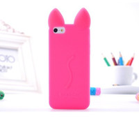 Luxury Cute 3D Kiki Cat kitty silicone case For iPhone 5 5S