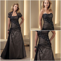 Reference Images Strapless Organza 2014 Wholesale Black Strapless Sequin Sheath Organza Wedding Evening Gowns Short Sleeve Jacket Sexy Mother Of The Bride Dresses