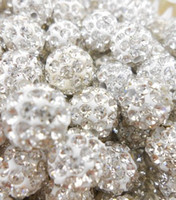 angels disco - Best mm White Clear Micro Pave CZ Disco Ball Crystal Shamballa Bead Bracelet Necklace Beads SEC Stock Mixed