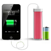 Power Bank   2600mAh Power Bank Charger Lipstick Portable Emergency External Battery Charger for Galaxy i9500 i9300 Note2 N7100 iphone 5 5S 30pcs