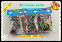 Wholesale best toys offer set Hot Color Rainbow loom rubber band package S hook Christmas gifts