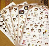 Wholesale Stickers diary stickers phone stickers cute Korea girl stickers cartoon Adhesive Stickers