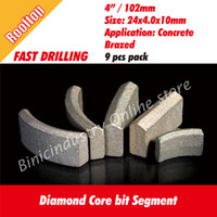 Wholesale 4 quot mm Rooftop diamond core bits segment for retipping x x mm