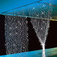 Wholesale 300LED M M Curtain String Lights Christmas Garden Lamps New Year Icicle Lights Xmas Wedding Party Decorations